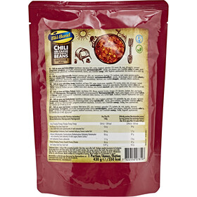 Bla Band Outdoor Pasto pronto 430g, Chili sin Carne with Kidney Beans